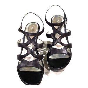 Calvin Klein strappy wedge sandals